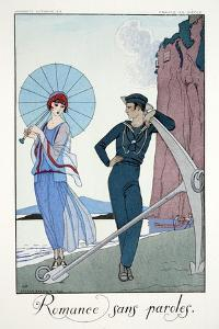 Romances Sans Paroles, from 'Falbalas and Fanfreluches, Almanach des Modes by Georges Barbier