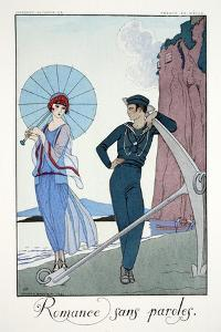 Romances Sans Paroles, from 'Falbalas and Fanfreluches, Almanach des Modes by Georges Barbier