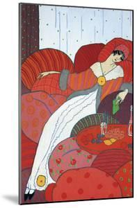 Seated Woman by Georges Barbier