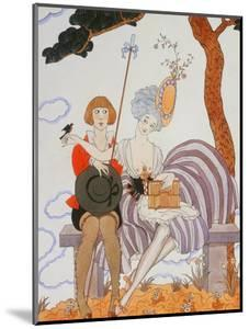 So Much or the Bird Is Quickly Tamed; Tant Mieux Ou L'Oiseau Vite Apprivoise by Georges Barbier