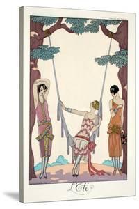 Summer, from 'Falbalas and Fanfreluches, Almanach des Modes Présentes, Passées et Futures', 1926 by Georges Barbier