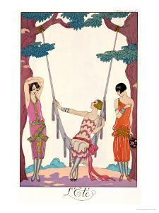 "Summer, from ""Gazette Du Bon Ton,"" 1925 by Georges Barbier"