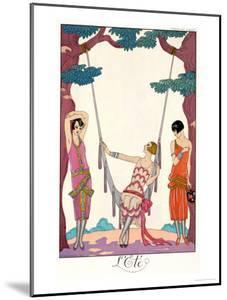"Summer, from ""Gazette Du Bon Ton,"" 1925 by Georges Barbier"