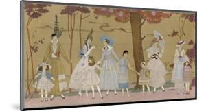 Summertime Fashions for Women and Girls by Paquin Doucet by Georges Barbier