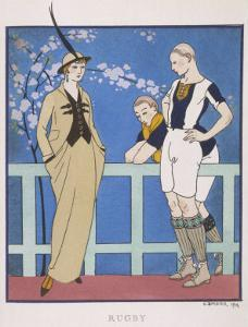 Tailor-Made by Redfern with Draped Skirt with Side Pockets Waistcoat and Jacket by Georges Barbier
