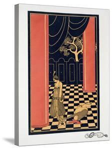 Tamara Karsavina (1885-1978) in the Title Role of 'Thamar', 1914 (Pochoir Print) by Georges Barbier