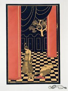 Tamara Karsavina (1885-1978) in the Title Role of 'Thamar', 1914 (Pochoir Print) by Georges Barbier