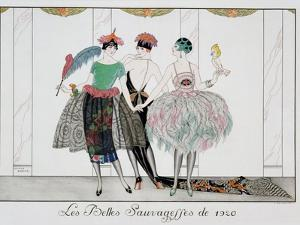 The Beautiful Savages, Engraved by Henri Reidel, 1920 by Georges Barbier