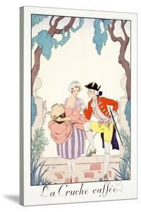 The Broken Jug, from 'Falbalas and Fanfreluches, Almanach des Modes Présentes, Passées et… by Georges Barbier