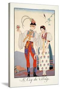 The Cock of the Walk, from 'Falbalas and Fanfreluches, Almanach des Modes Présentes, Passées et… by Georges Barbier