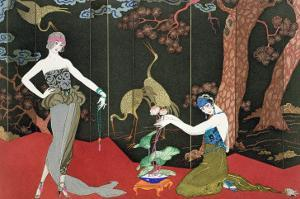 The Fashion for Lacquer, engraved by Henri Reidel, 1920 by Georges Barbier