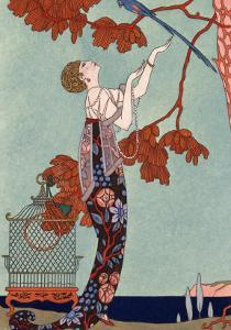 The Flighty Bird, France, Early 20th Century by Georges Barbier