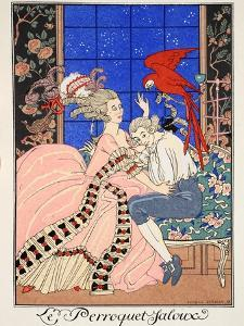 The Jealous Parrot, 1919 by Georges Barbier