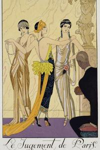 The Judgement of Paris, 1920-30 by Georges Barbier