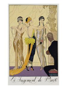 The Judgement of Paris, 1920-30 by Georges Barbier