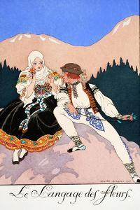 The Language of Flowers by Georges Barbier