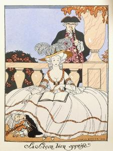 The Lesson Well Learned, 1919 by Georges Barbier