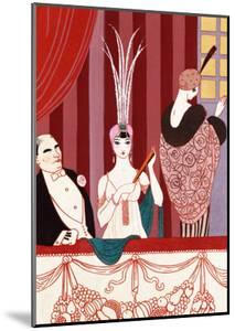 The Loge, France, Early 20th Century by Georges Barbier