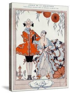 The School of Coquetry! by Georges Barbier