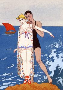 The Small Island, France, Early 20th Century by Georges Barbier