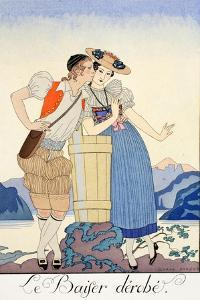 The Stolen Kiss by Georges Barbier