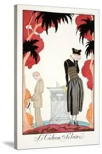 The Sundial, from 'Falbalas and Fanfreluches, Almanach des Modes Présentes, by Georges Barbier