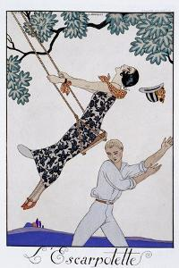 'The Swing', 1920s by Georges Barbier