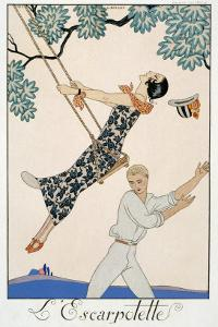 The Swing, 1923 by Georges Barbier