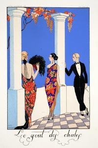 The Taste of Shawls, from 'Falbalas and Fanfreluches, Almanach des Modes Présentes, Passées et… by Georges Barbier