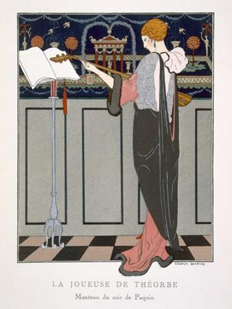 The Theorbo Player, Design For an Evening Coat by Paquin, 1920S