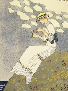 Un Peu, Design For a Country Dress by Paquin, c.1913 by Georges Barbier