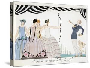 Visez Au Coeur, Belles Dames!, by H. Reidel, 1924 (Pochoir Print) by Georges Barbier