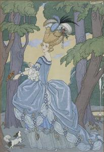 Walk in the Forest by Georges Barbier