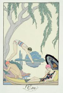 Water, 1925 (Pochoir Print) by Georges Barbier