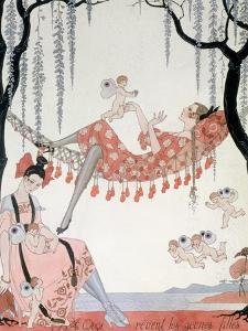 What Do Young Women Dream Of? 1918 by Georges Barbier