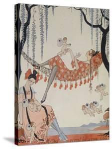 What Do Young Women Dream Of?; a Quoi Revent Les Jeunes Filles? by Georges Barbier