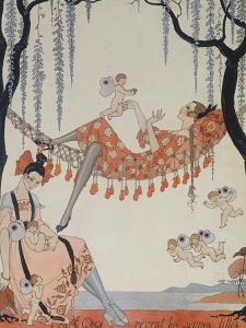 What Do Young Women Dream Of?; a Quoi Revent Les Jeunes Filles? by Georges Barbier