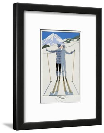 """Winter: Lovers in the Snow, Fashion Plate from """"Twentieth Century France,"""" 1925"""