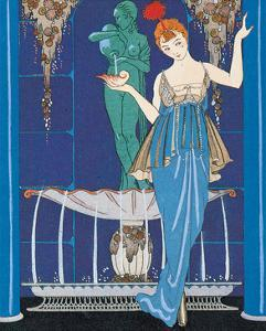Woman and Fountain by Georges Barbier