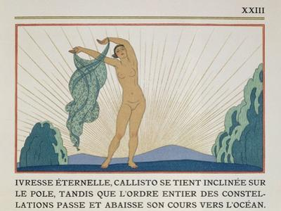 Woman Dancing, Illustration from 'Les Mythes' by Paul Valery (1871-1945) Published 1923