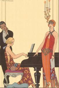 Woman Playing Piano, 1922 by Georges Barbier