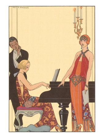 Woman Playing Piano, 1922