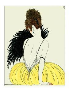 Woman with Fan by Georges Barbier
