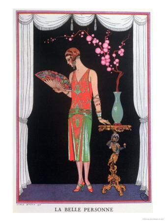 Worth Evening Dress, Fashion Plate from Gazette Du Bon Ton, 1925