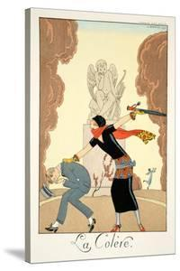 Wrath, from 'Falbalas and Fanfreluches, Almanach des Modes Présentes, Passées et Futures', 1925 by Georges Barbier