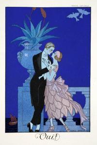 Yes!, from 'Falbalas and Fanfreluches, Almanach des Modes Présentes, Passées et Futures', 1922 by Georges Barbier