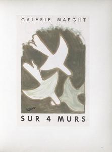 AF 1956 - Galerie Maeght Sur 4 Murs by Georges Braque