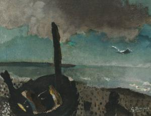 Boat on a Shore in Brittany by Georges Braque