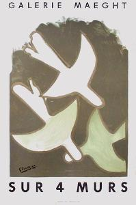Expo Sur 4 Murs by Georges Braque