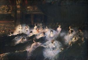 An Interval at the Opera by Georges Clairin